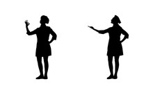 Two Black Silhouettes Of Chef ...