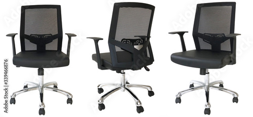 Office Chair  Airy backrest Office black Chair Canvas Print