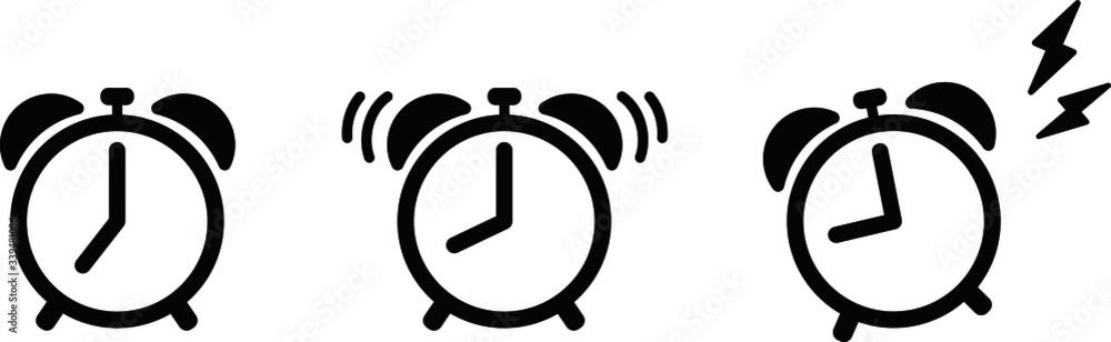 Fototapeta 目覚まし時計のアイコンのセット/アラーム/朝