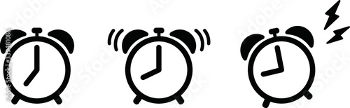 Photo 目覚まし時計のアイコンのセット/アラーム/朝