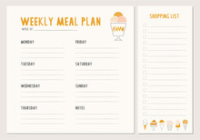 Weekly Meal Plan. Menu And Sho...