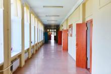 An Empty School Corridor Stret...
