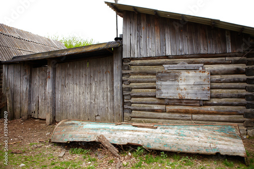Old rustic wooden house and its details Fototapet