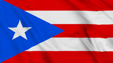 Puerto Rico Flag Is Waving 3D ...