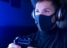 Man Playing Video Game Wearing...