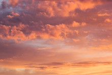 Lovely Golden And Pink Clouds ...