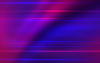 Abstract dark background with blue and pink neon glow. Neon light lines, waves.