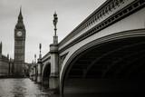 Fototapeta Big Ben - Westminster Bridge Over River Leading Towards Big Ben In City