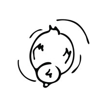 Cute Doodle Duck. Vector Pattern, Print Or Clipart.