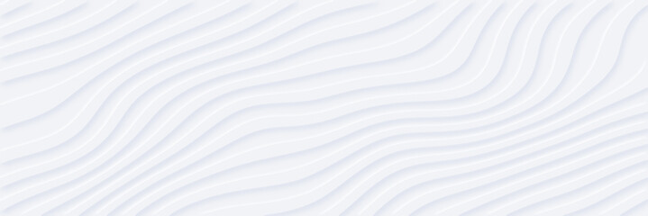 White silver soft wavy universal background for business presentation. Abstract flow elegant pattern. Minimalist empty striped blank BG. Halftone monochrome cover. Modern digital minimal color 2020