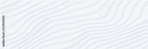 White silver soft wavy universal background for business presentation Slika na platnu