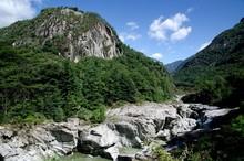 Scenic Rocky River Landscape B...