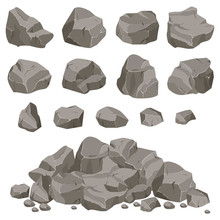 Set Of Stones Of Various Shape...