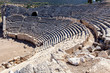 Theater in the ancient city of Patara, Antalya, Turkey.