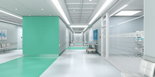 Green Hospital With Copy Space