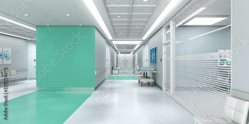 Green hospital with copy space Wallpaper Mural
