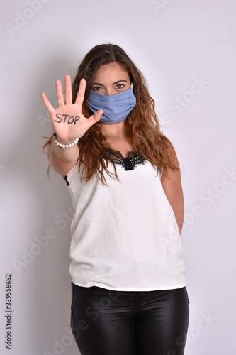 Photo Un masque pour éviter la contagion