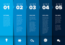 Vector Progress Five Steps Template