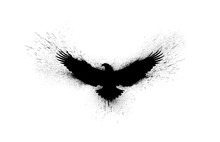 Black Silhouette Of A Flying E...