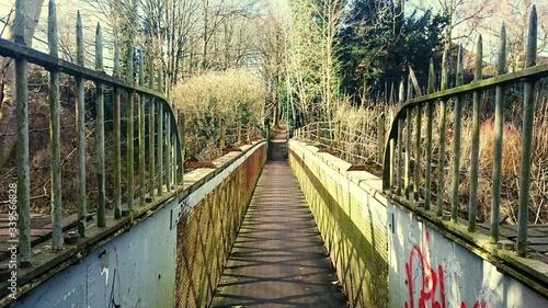 Photo Footbridge Over River