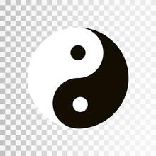 Yin Yang Symbol. Vector Icon O...