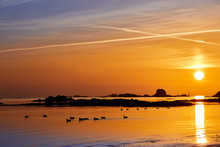Sunset At St Clements Bay, Jer...