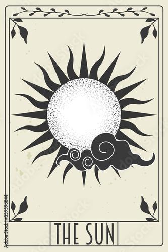 Leinwand Poster tarot card