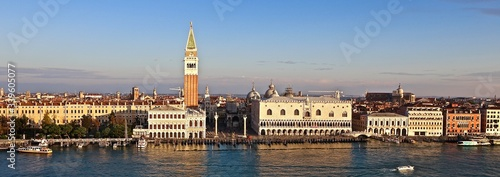 Tela Panoramic View Of San Marco Campanile By Grand Canal In City Against Sky