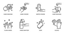 Hygiene Hand Washing. Vector S...