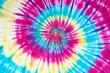 canvas print picture - tie dye pattern hand dyed on cotton fabric abstract texture background.