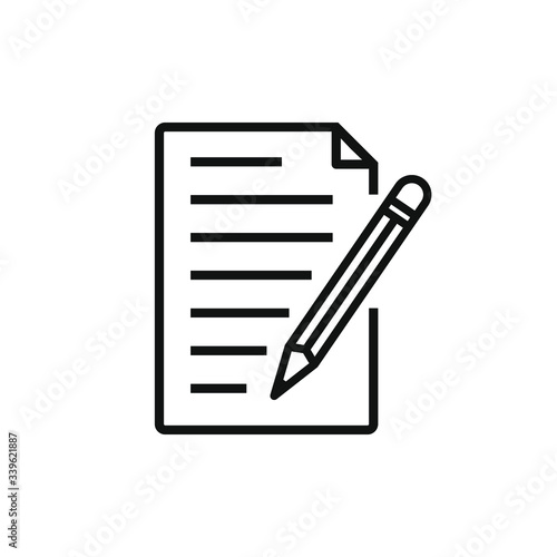Fototapety, obrazy: single icon of a edit document isolated on white background