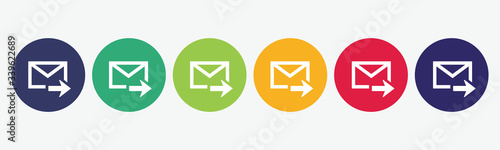 Foto Email icon vector isolated set.