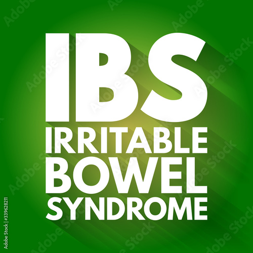 IBS - Irritable Bowel Syndrome acronym, medical concept background Canvas-taulu