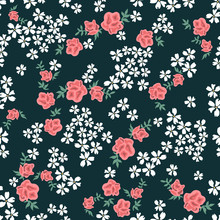 Vintage Print With Small Flowe...