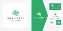 Brain   Tree Logo - Premium Vector