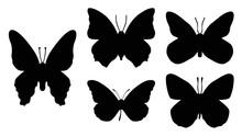 Butterflies Silhouettes Set, D...