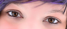 Extreme Close Up Of Woman Eyes