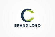 Abstract Circular Initial Letter C Logo. Usable For Business And Technology Logos. Flat Vector Logo Design Template Element.