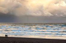 Dramatic Sky With Rainclouds O...