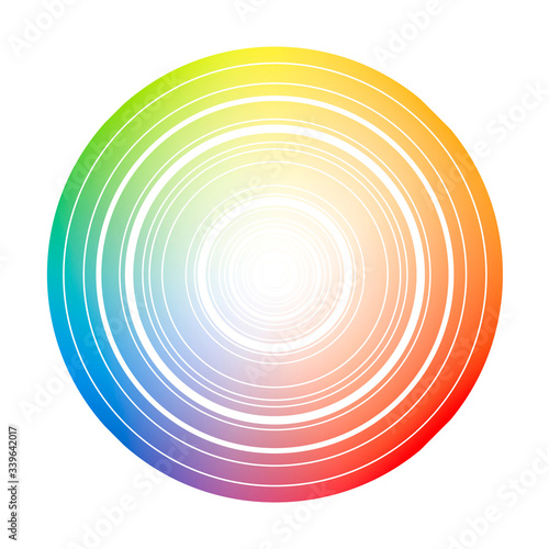 Color wheel circle with blended colors Canvas Print