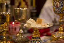 Chalice For Communion In The Orthodox Monastery. Vvedensky Monastery.