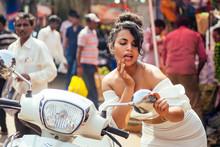 Indian Woman Wearing Fashionab...
