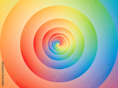 Color wheel circle with blended colors Wallpaper Mural