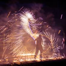 Man Performing Fire Stunt