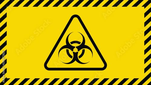 Coronavirus warning sign in a triangle Wallpaper Mural