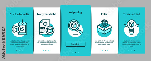 Product Manager Work Onboarding Mobile App Page Screen Vector Wallpaper Mural