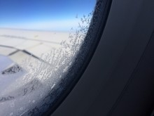Close-up Of Frost On Airplane ...