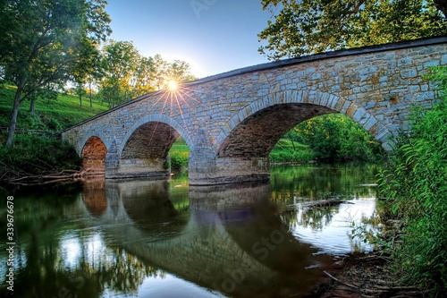 Fotografia Burnside Bridge Over Antietam Creek