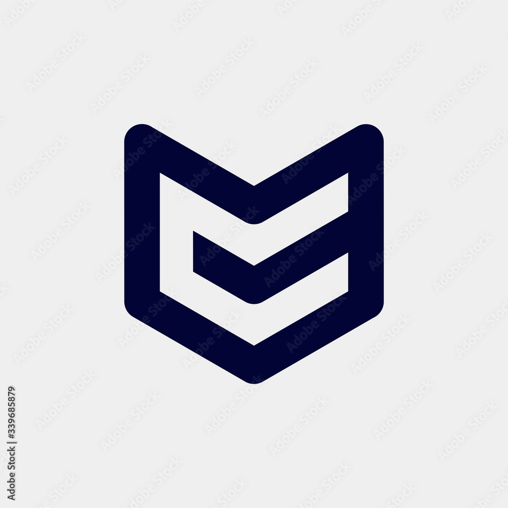 Fototapeta initial letter mc or cm logo template