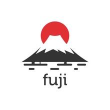 Fuji Mountain And Sunset Logo ...